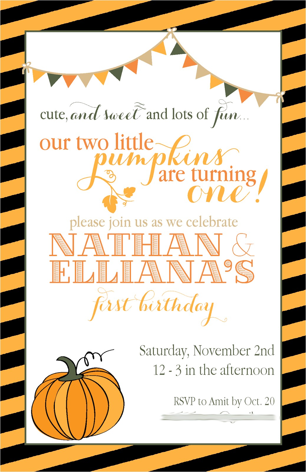 fall party invitations template