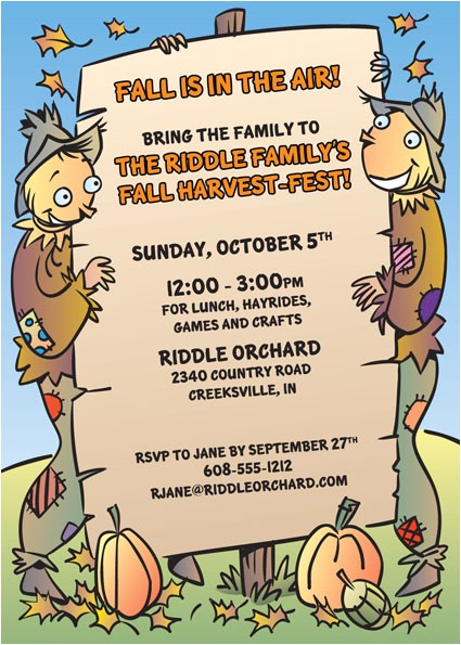 harvest party invitation 433051