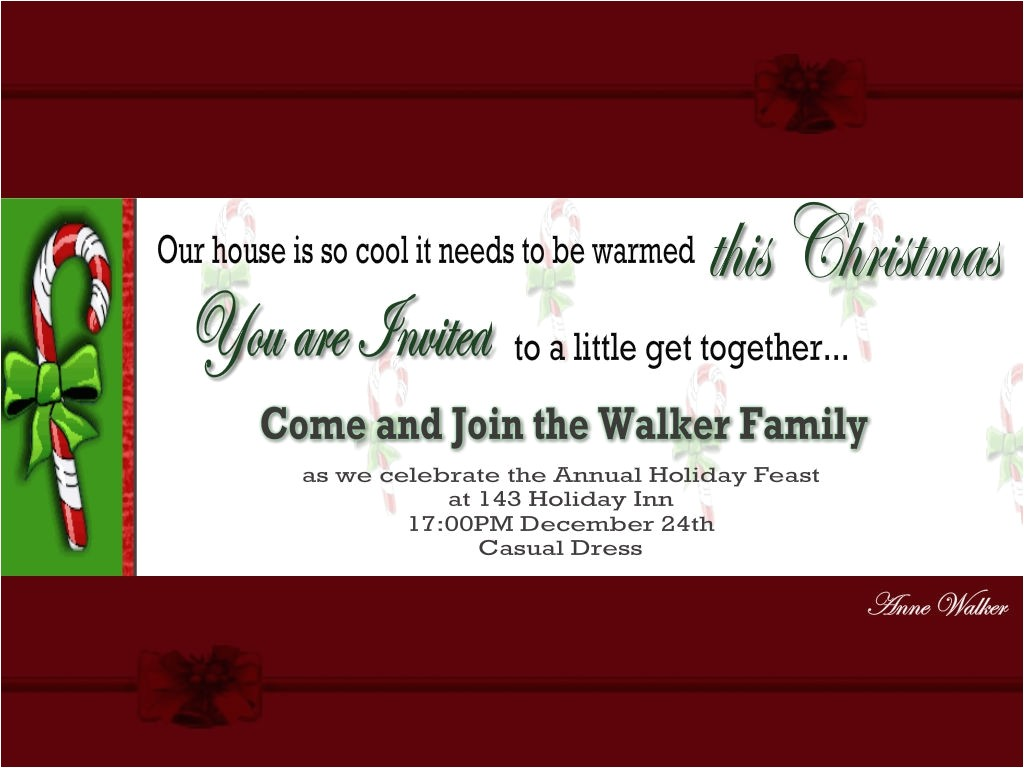 christmas invitation wording