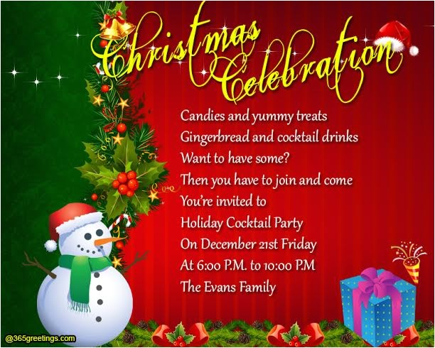 family christmas party invitation ideas