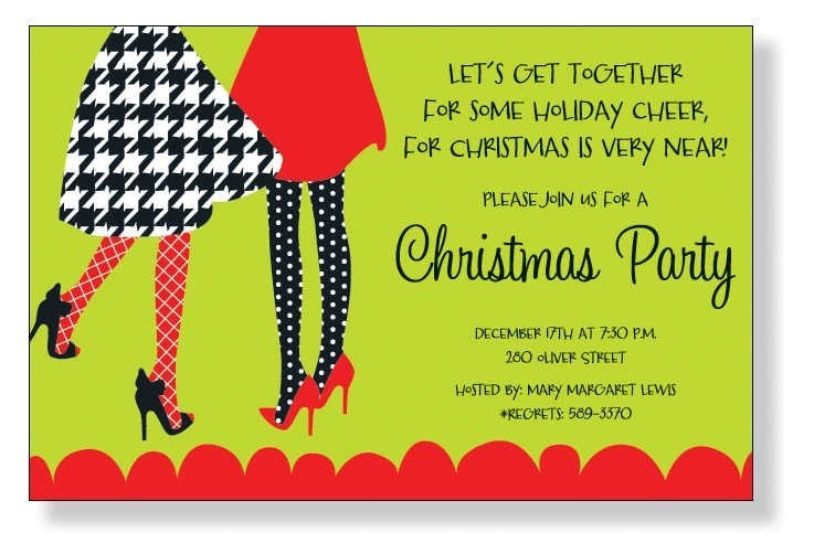 family holiday party invitation wording