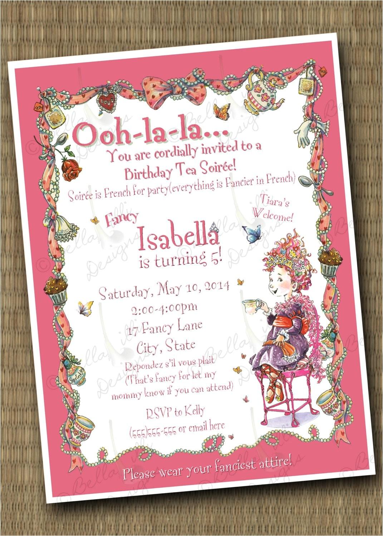 fancy nancy birthday soiree invitation