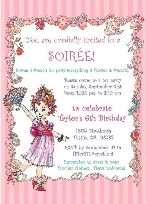 fancy nancy party invitation diy