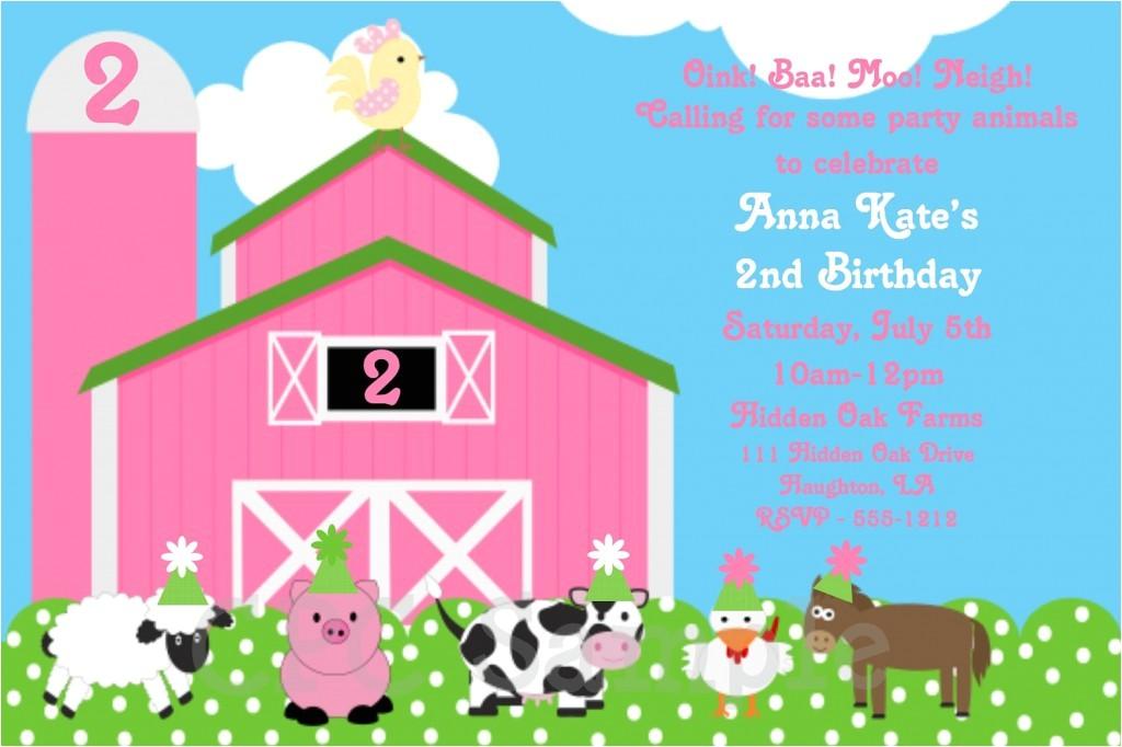 farm birthday invitations ideas