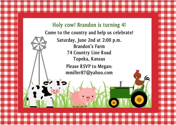 free printable cow birthday invitations