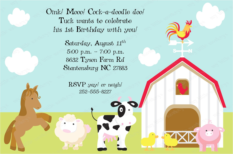 how to create farm birthday invitations templates