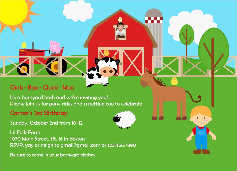 farm birthday invitations free
