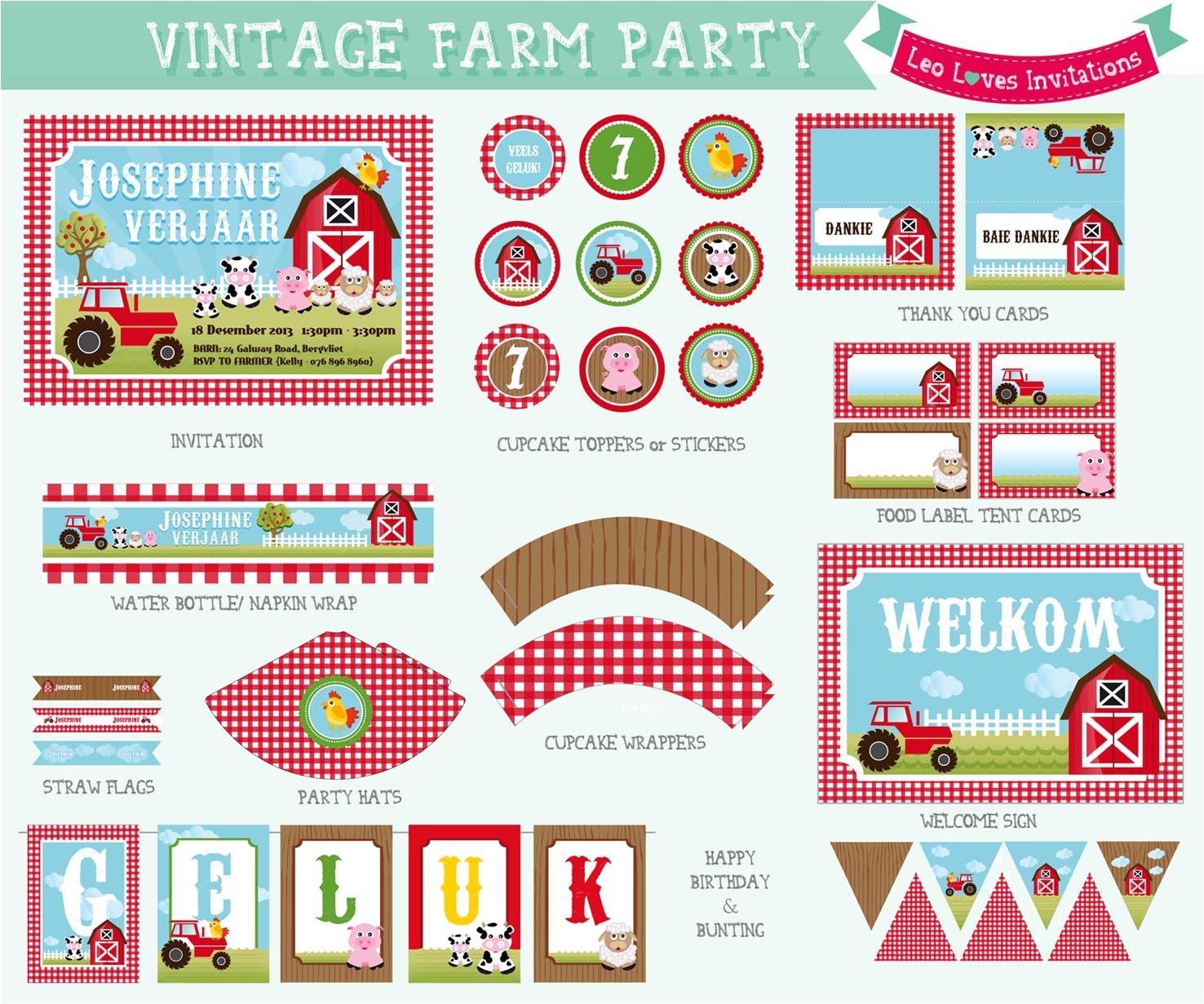 farm printable