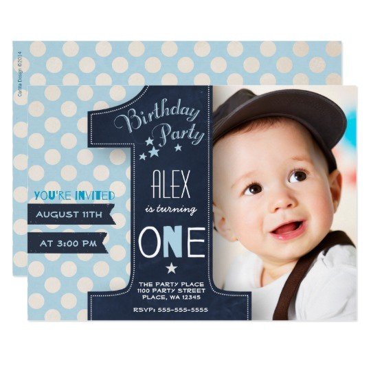 first birthday party invitation boy chalkboard 256973755724697045