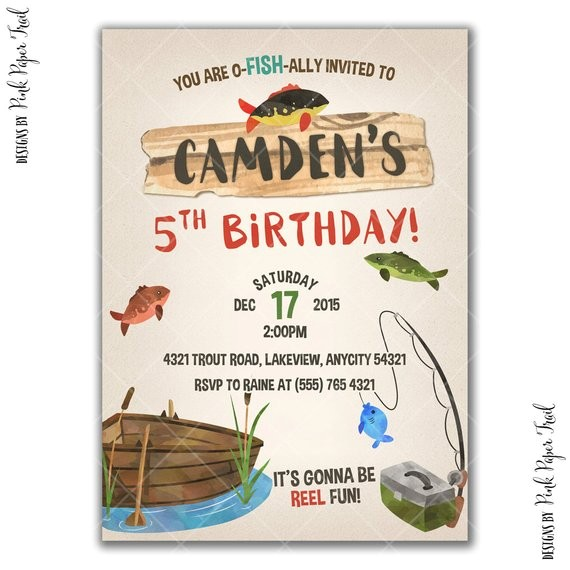 gone fishing party invitation fishing birthday