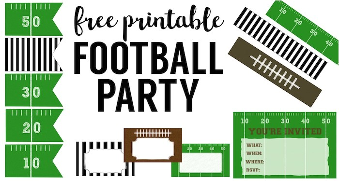 free printable football decorations football party