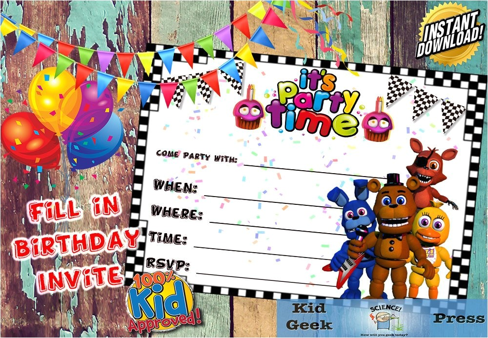 five nights at freddys fnaf birthday