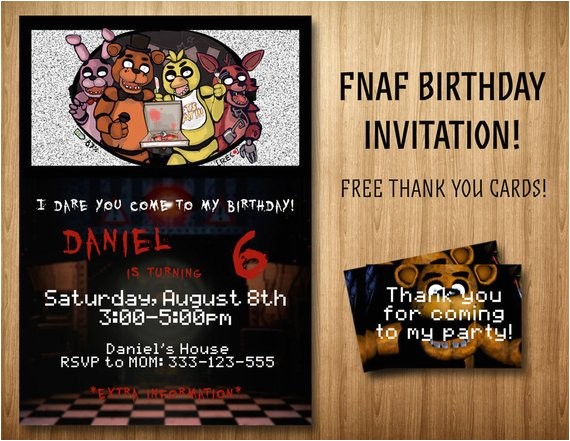 five nights at freddys invitation bonus