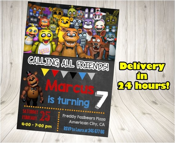 five nights at freddys invitation five ref shop home active 3