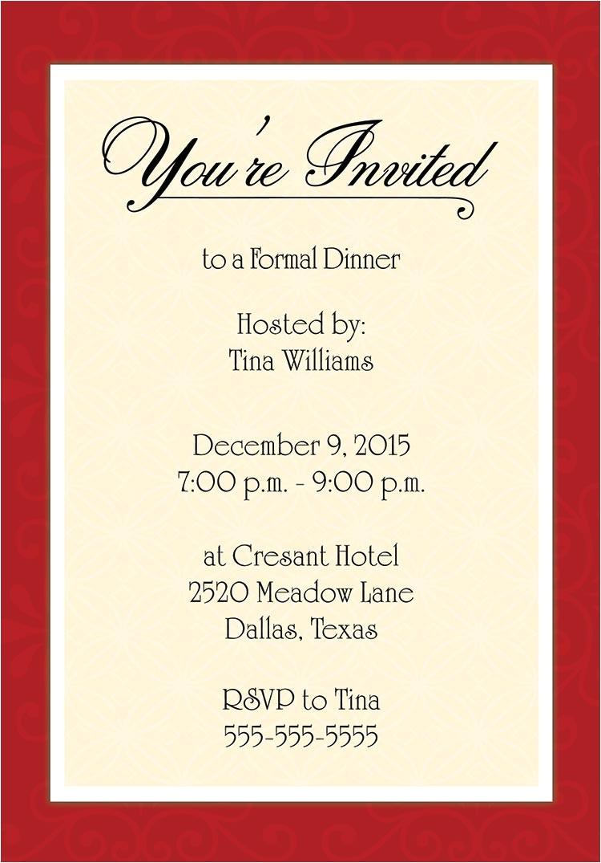 post dinner invitation template 38521