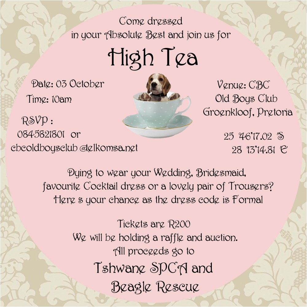 formal high tea fundraiser