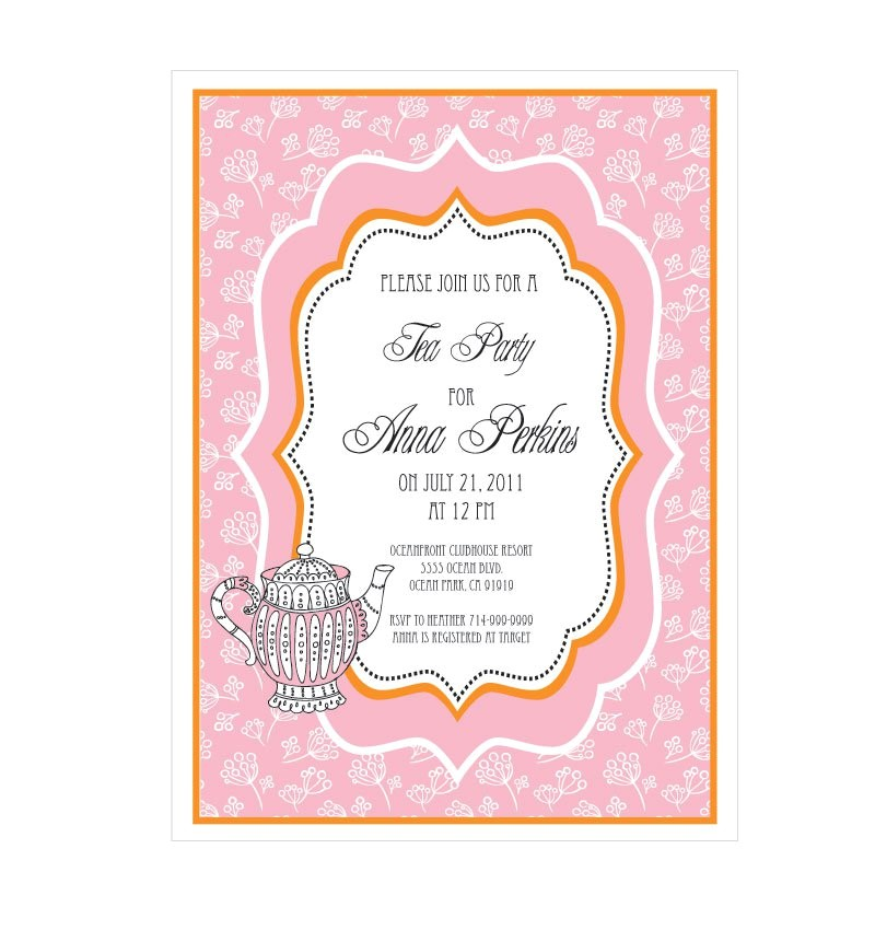 formal tea party invitations