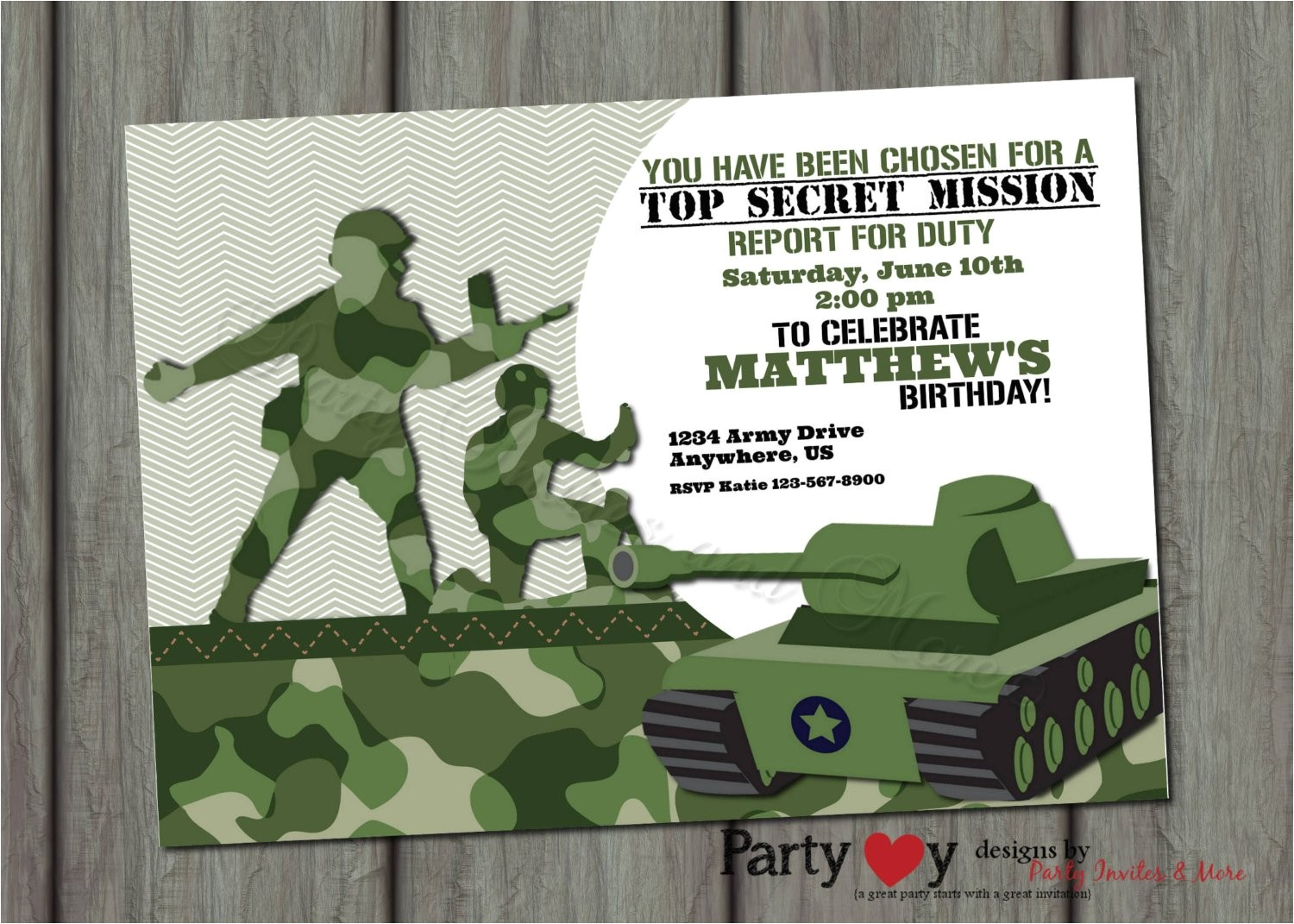 army birthday invitation templates free