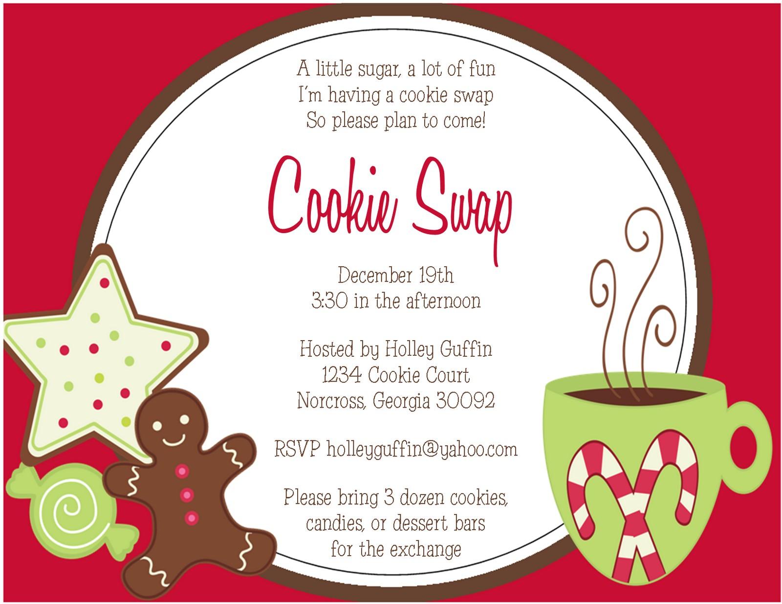 post cookie swap printable invitations 348418