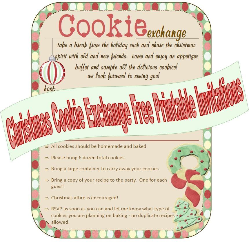 post printable cookie exchange invitations 348340