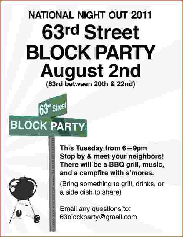 4 block party flyer template