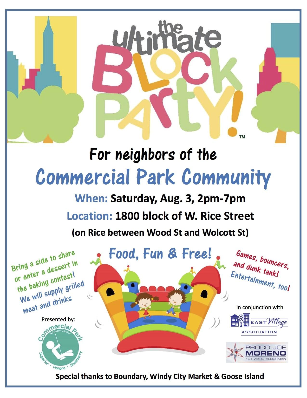 neighborhood party invitation