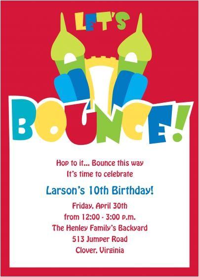 design of bounce house birthday invitations inspiration 2015