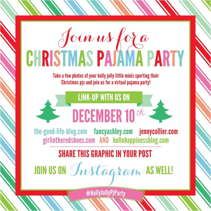 christmas pajama party link up