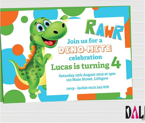 free dinosaur invitation printables