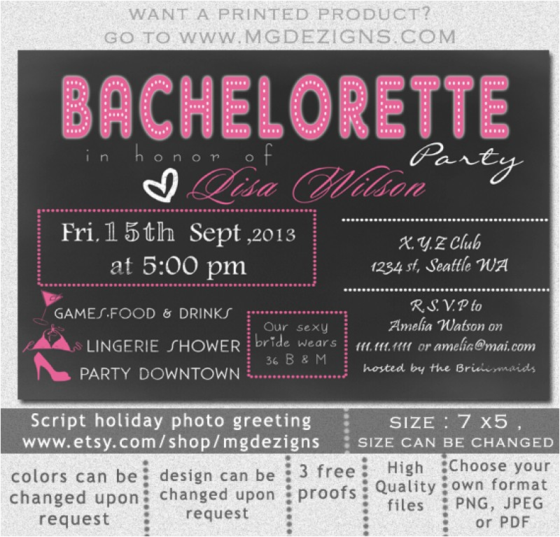 free printable bachelorette invitation