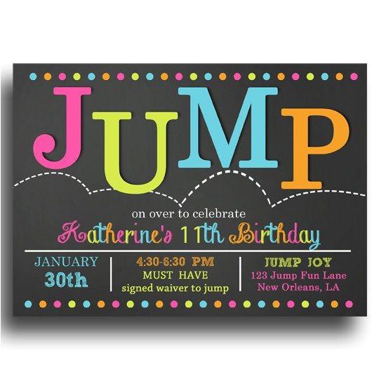 jump party invitations jump party invitations cimvitation trampoline invitations
