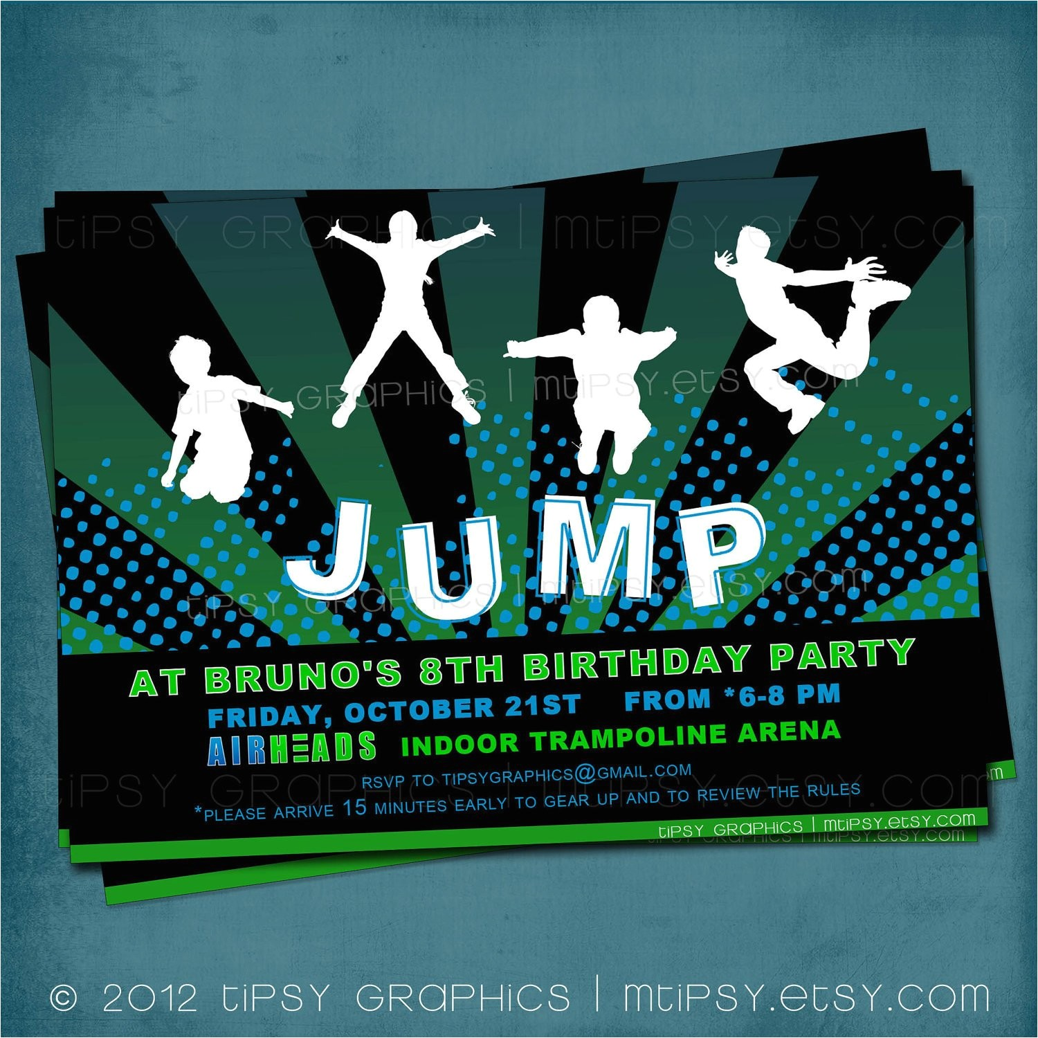 jump trampoline or bounce house birthday