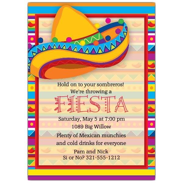 big sombrero fiesta invitations p 643 57 783