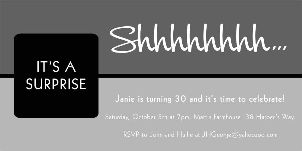 surprise birthday invitations template