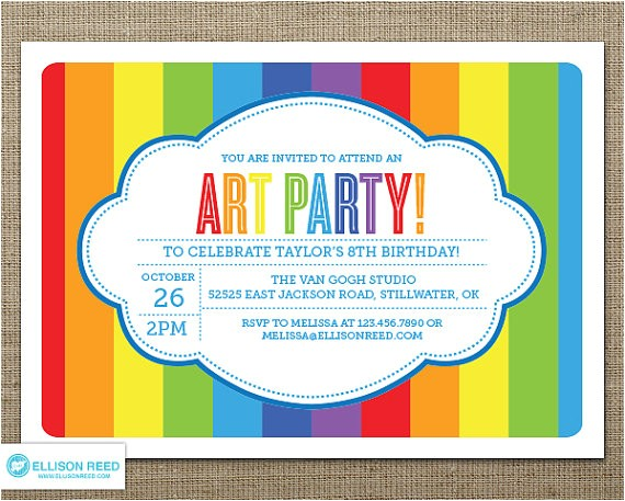 post art party invitations printable 384308