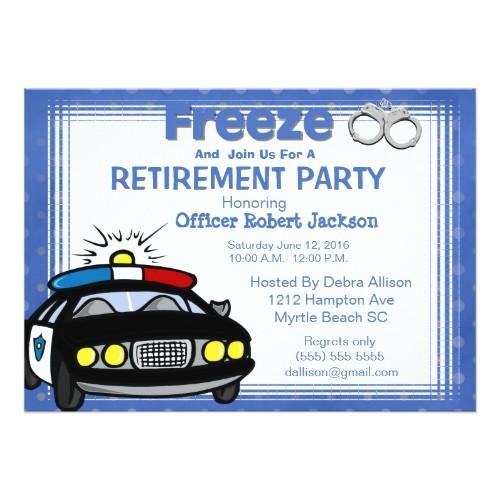 female retirement invitation