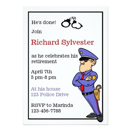 police retirement party invitation 161459411026436760