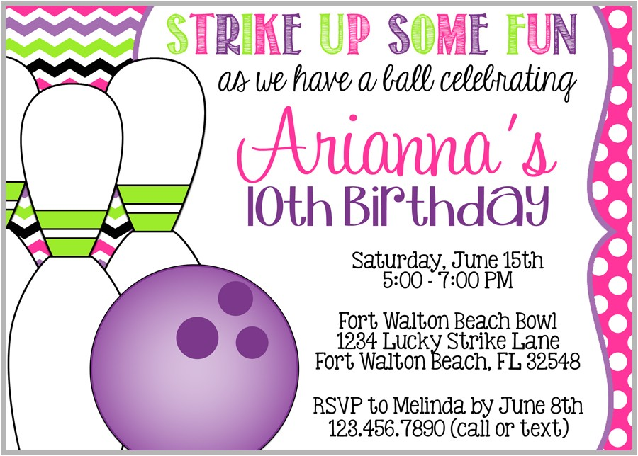 bowling party invitations free download