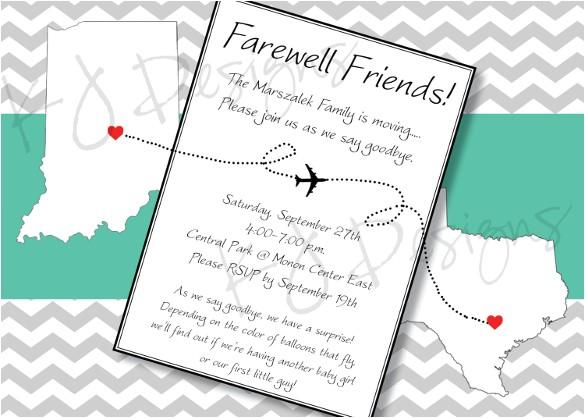 farewell invitation template