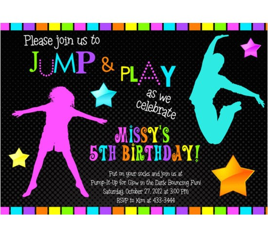 glow in the dark birthday invitations