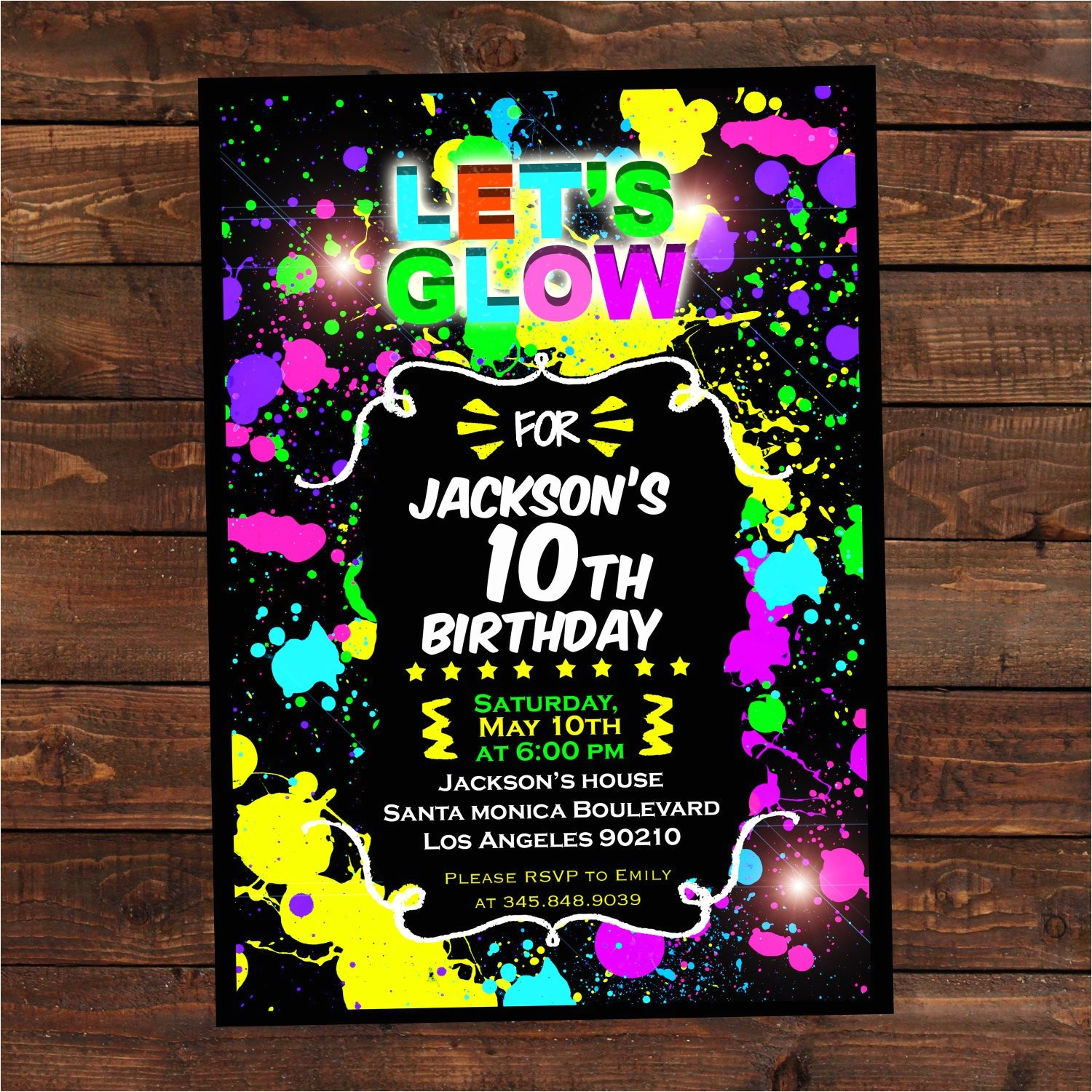 glow in the dark invitations diy glow