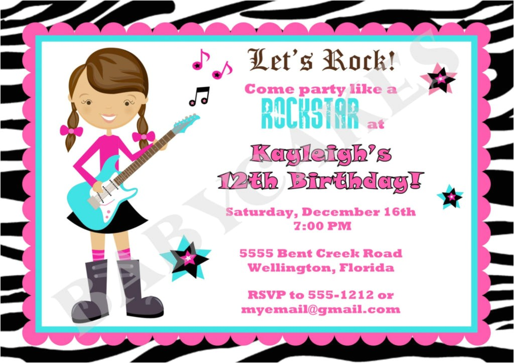 rock star birthday party invitations oxsvitation karaoke birthday party invitations