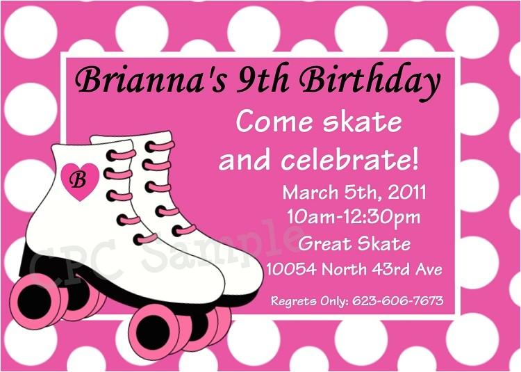 post roller skating birthday invitations printable 428508
