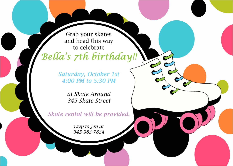 roller skate invitations template