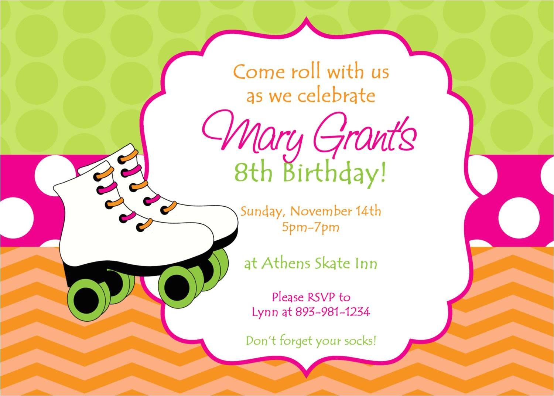 skating party invitations