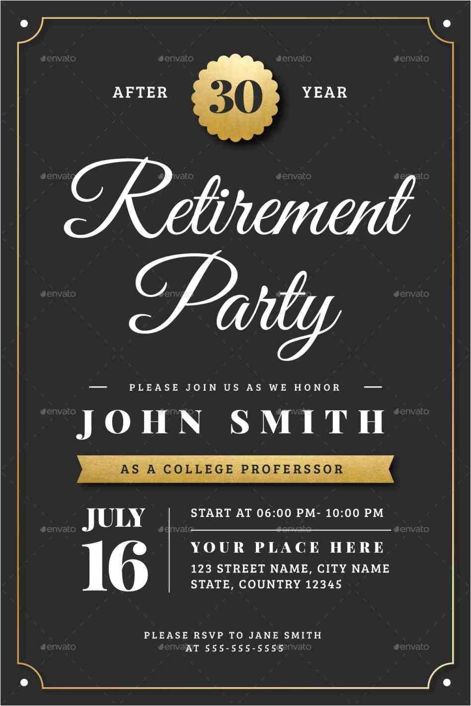 gold retirement flyer template powerpoint retirement invitation flyer templates by vector vactory free printable garage sale flyers attract more free retirement flyer template powerpoint jpg