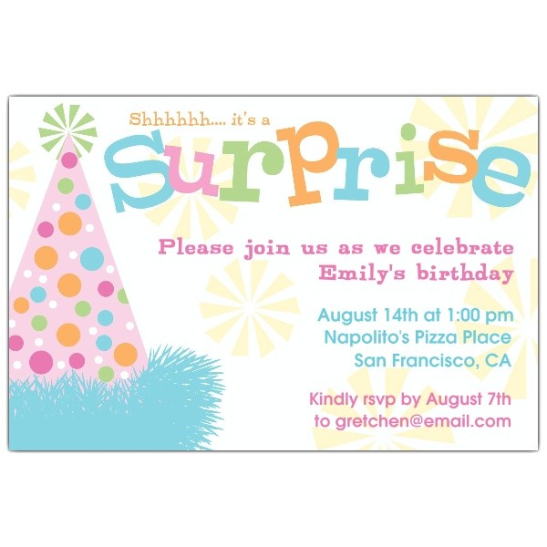 free surprise birthday party invitations