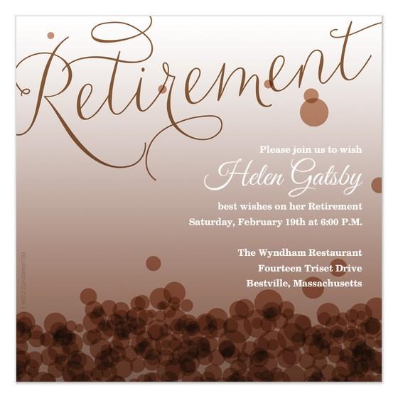 post free printable retirement templates 240666