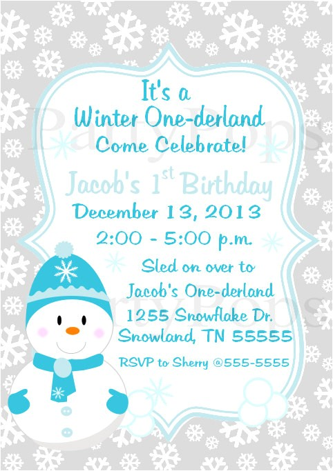 post winter wonderland party invitation free printable 86433
