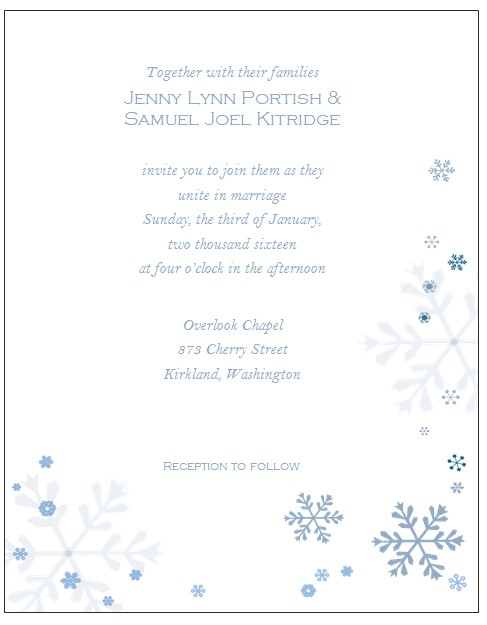 winter wonderland invitations templates